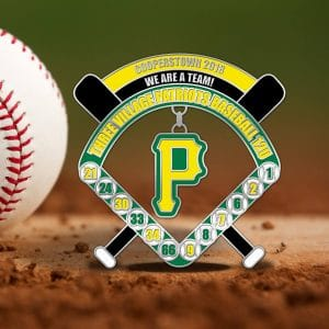 Inside the Park Baseball trading Pin Design